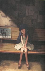 Rika at the Bus Stop0001