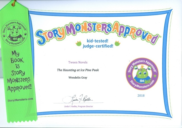 2018 Story Monsters Approved HIPP Certificate.Ribbon